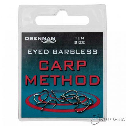 Drennan Eyed Barbless Carp Method 10 horog