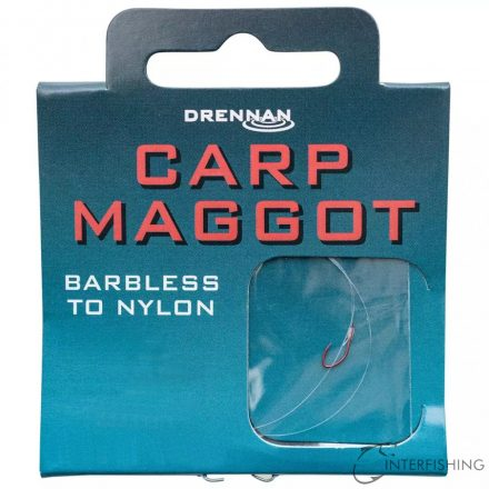 Drennan Barbless Carp Maggot 14-4lb előkötött horog