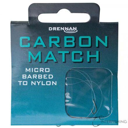 Drennan Carbon Match 18-2lb előkötött horog